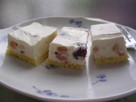 ラム酒の香り♪レアチーズケーキ