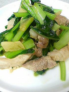 豚肉と小松菜のスタミナ炒め♪10分で完成