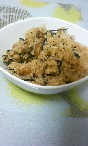 あさり&ヒジキご飯
