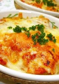 *ポテトとトマトソースのチーズ焼き*