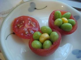 プチトマトカップのお花