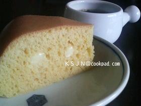 炊飯器deチーズinホットケーキ