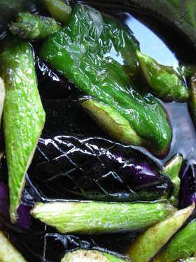 ☀暑い日はコレ 冷え冷え野菜の揚げびたし