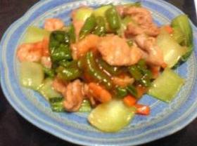 簡単!エビ&豚肉と残り野菜で作る中華