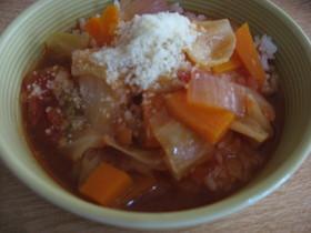 トマトDEスープご飯
