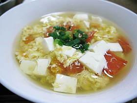 トマトと豆腐、卵のスープ