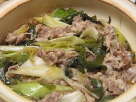 イチオシ★豚肉と長ネギの蒸し煮