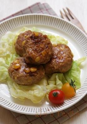 お豆腐とコーンの豚さんハンバーグ