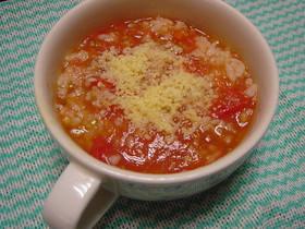 myトマトスープdeイタリアンなスープ飯