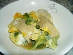 ブロッコリーと高野豆腐の卵とじ