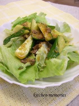 アンチョビドレッシングの簡単サラダ