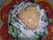 鶏胸肉と胡瓜のゴマだれの写真