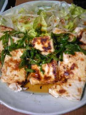 豆腐の梅ダレステーキ