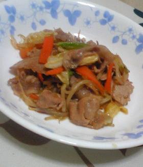 定食屋さんチックな肉野菜炒め