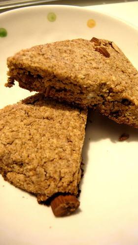 スペルト小麦とおからのスコーン
