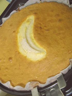 ターンテーブルで、バナナケーキ