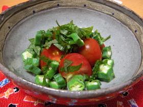 簡単♪おくらとトマトのさっぱりサラダ