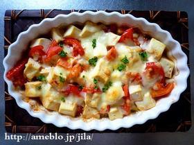 激うま簡単トマトと豆腐と挽肉のチーズ焼き