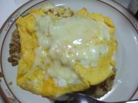 納豆チーズオムライス