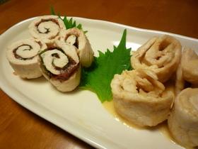 ♡◎鶏ささみの梅大葉巻き&味噌チーズ巻き
