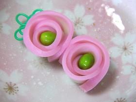 お弁当に♬枝豆とかまぼこのお花☆彡