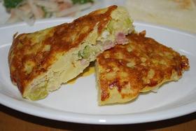 ポテトサラダをリメイク→ポテサラオムレツ