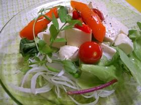 豆腐とクリームチーズのサワーサラダ