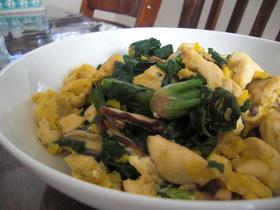 ほうれん草と豆腐の炒り煮