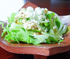 【超簡単】レタスのカッテージチーズサラダ