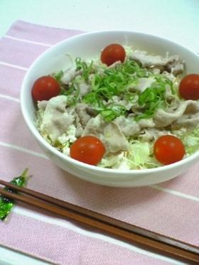 豆腐&豚しゃぶサラダ♪