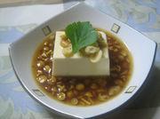 温かいなめこ豆腐の写真