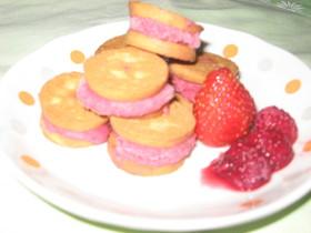 ひと口☆アイスサンドクッキー