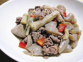 牛肉と牛蒡の煮物