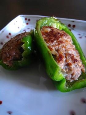 肉詰めピーマン梅味噌