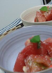 簡単いたーりあん★トマトのバジルサラダ♪