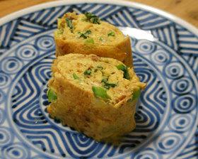 鰹節と小松菜の卵焼き お弁当のおかず