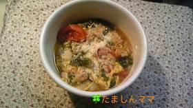 簡単☆チーズカレースープ飯