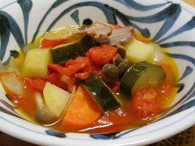 いろいろ野菜とトマトの煮込み