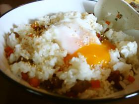 ◆さつま揚げごはん(半熟卵のせ)◆