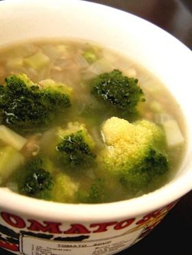 ブロッコリーの優しいスープ・中華味