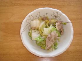 白菜の和風炒め