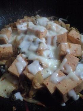 高野豆腐のキムチーズ炒め