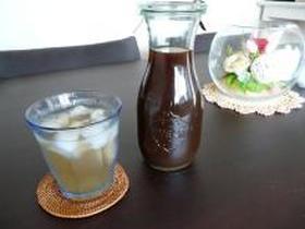 黒糖黒酢梅サワー