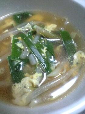 簡単♪もやしのニラ玉スープ☆