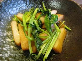 さつまあげと小松菜の醤油ジュっと炒め