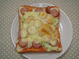 とろけないチーズでピザトースト☆