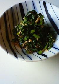 鉄分補給♪大根葉の炒め物