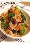 鶏肉と万願寺唐辛子のラグー