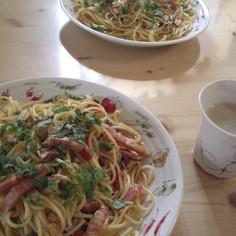 青じそとトマトのスパゲッティー