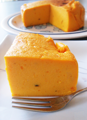 かぼちゃのクリームチーズケーキ